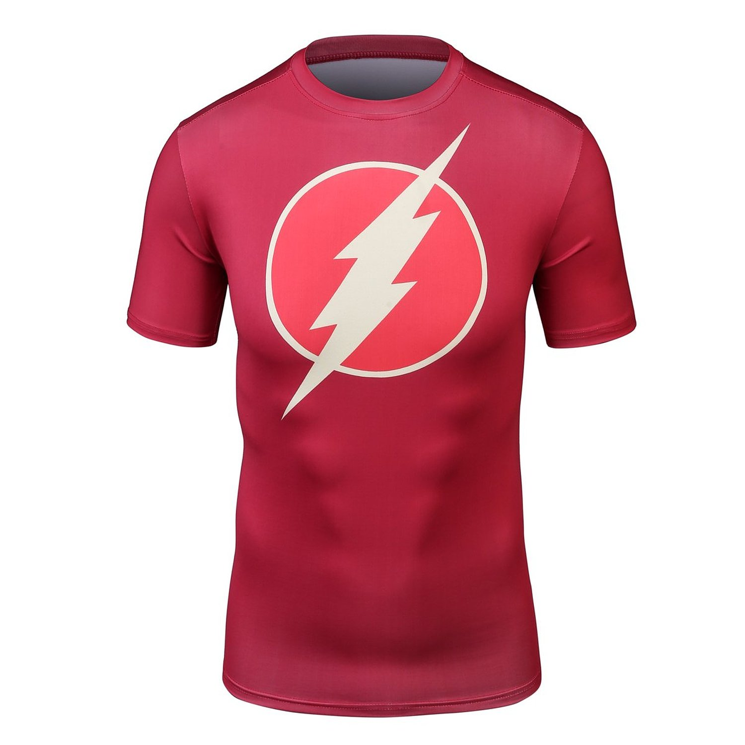 Red Plume Men's Compression T-shirt ,Sports Jogging Fitness Red Flash Man Shirt(China (Mainland))
