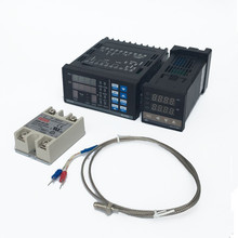 1Kits Digital Adjustable PID Temperature Controller Panel Thermostat PC410 + REX-C100 + Max.40A SSR Relay + K Thermocouple Probe()