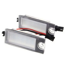 Buy 2Pcs Car 18 LED License Plate Light White Number Plate Lamp Volvo S80 99-06 V70 XC70 S60 XC90 Accessories for $7.99 in AliExpress store