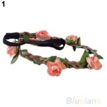 Boho Summer Style Floral Flower Women Girls Hairband Headbands Festival Party Wedding 8 Color(China (Mainland))