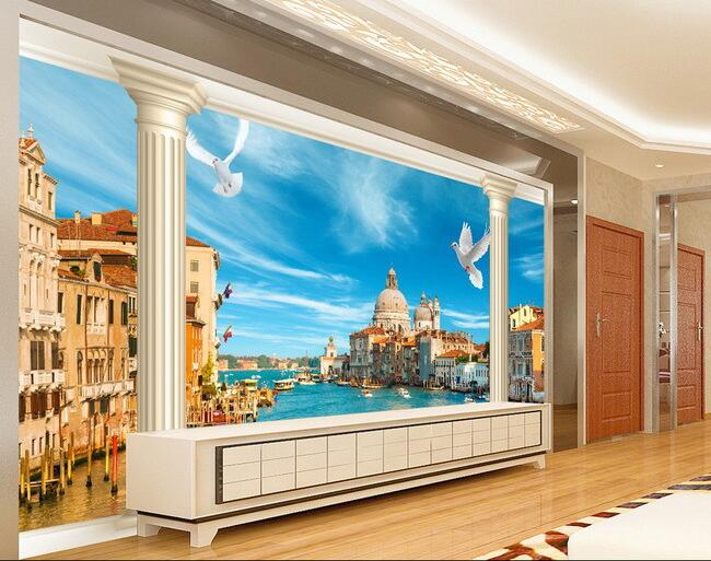 3d carta da parati personalizzata murale non tessuto for Adesivi parete 3d