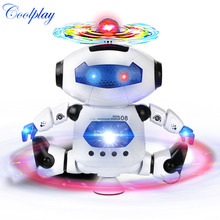 CP99444-2 Smart Space Dance Robot Electronic Walking Toys With Music Light Gift For Kids Astronaut Toy to Child(China (Mainland))