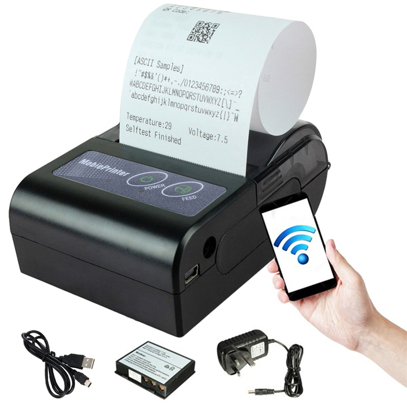 Brand New 90mm/sec 203*203DPI 58HB-2 Portable Mini Bluetooth Wireless Receipt Thermal Printer For Android For Windows(China (Mainland))