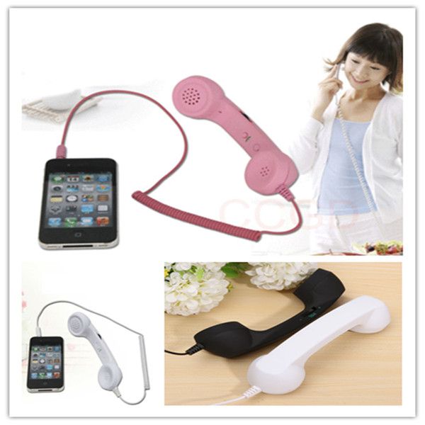 New Mini Microphone Telephone Handsets Radiation Cell Phone Handset Fit To Various Mobile Phone Novelty Design(China (Mainland))