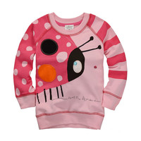 1pc retail free shipping high quality cotton kids clothes 2-6T new 2014 autumn kids outerwear children sweater