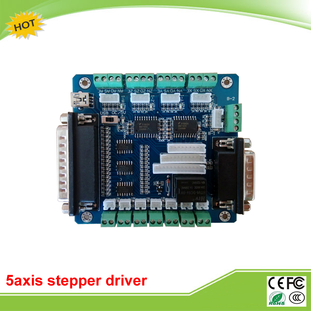 popular usb motor driver board buy cheap usb motor driver board 5 axis usb breakout board for cnc single stepper motor driver controller mainland