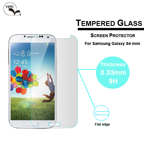 0.3mm plane Tempered Glass Anti-explosion For samsung galaxy s4 mini Screen Protector For samsung free shipping(China (Mainland))