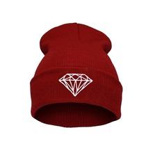 2015 fashion style Hip Hop Men s Men Women Unisex cap With Diamond Pattern Beanies Winter