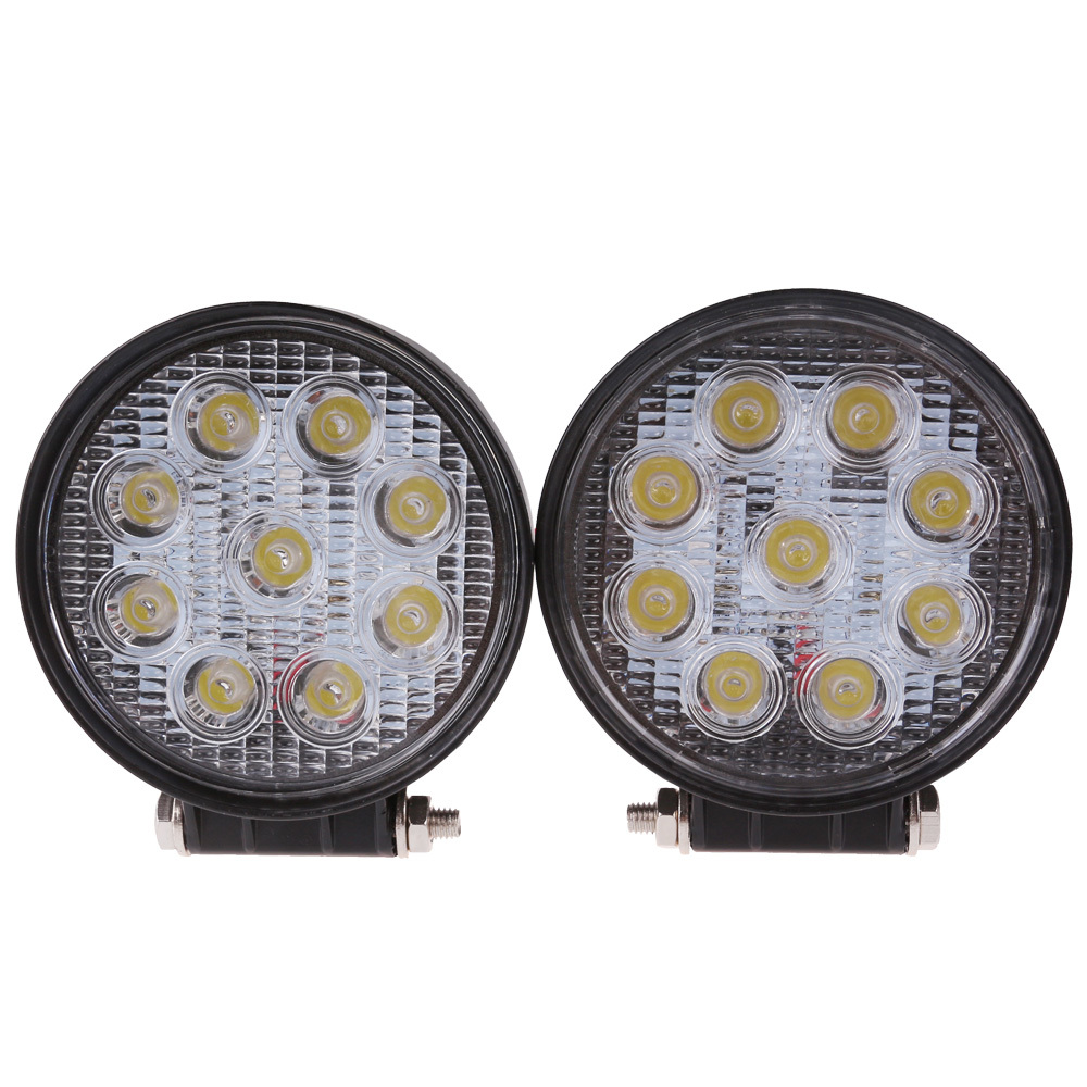 2Pcs 27W*2 LED Work Light 12V 24V IP67 Spotlight Fog Light Off Road ATV Tractor Train Bus Boat Floodlight 4x4 ATV UTV Work Light(China (Mainland))
