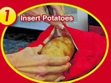 NEW Red Washable Cooker Bag Baked Potato Microwave Cooking Potato Quick Fast (cooks 4 potatoes at once) lq new(China (Mainland))