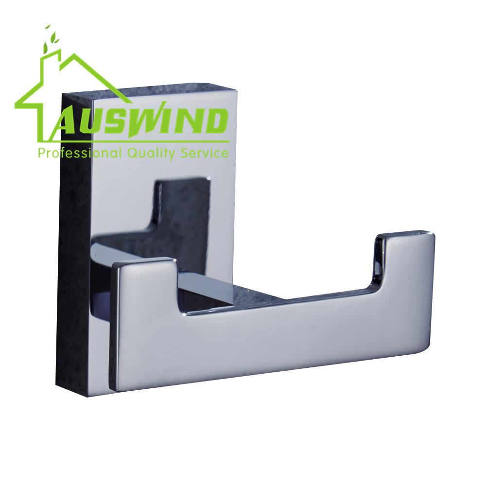 Contemporary Chrome Finished Copper Robe Hook Luxury Polish Hook Hanger Coat Hanger Bathroom Hardware(China (Mainland))