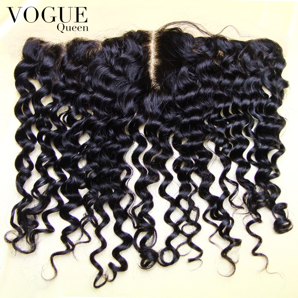 7A Full Lace Frontal Closure 13x4 Deep Curly Wave Virgin Brazilian Human Hair Ear To Ear Top Lace Frontal Pieces Wholesale Price(China (Mainland))