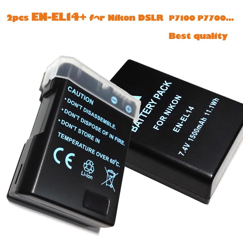 EN-EL14 en-el14a Digital Camera Battery Pcak EN EL14 ENEL14 Nikon Dslr D90 D300 D3100 D5100 D5200 D3200 d5300 - Online-gifts store