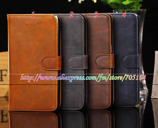 Retro vintage skin Flip  Wallet credit card pull-up PU leather case Stand holder cover for Samsung Galaxy Mega 6.3 I9200 10PCS