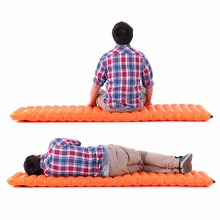 Cool Brand New Laminated Material Inflatable Camping Single Pillow Air Mat Bed Pad Sleeping Hiking Picnic High Quality(China (Mainland))