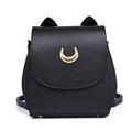 New Sailor Moon Black PU Leather Backpack Women Shoulder Rucksack 2016 School Bags for Teenage Girls