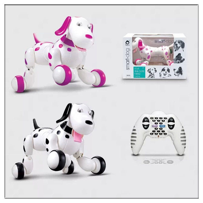 Гаджет  2015 New learning & education remote control toy dog electronic pet intelligent girls boys brinquedos rc robot toys None Игрушки и Хобби