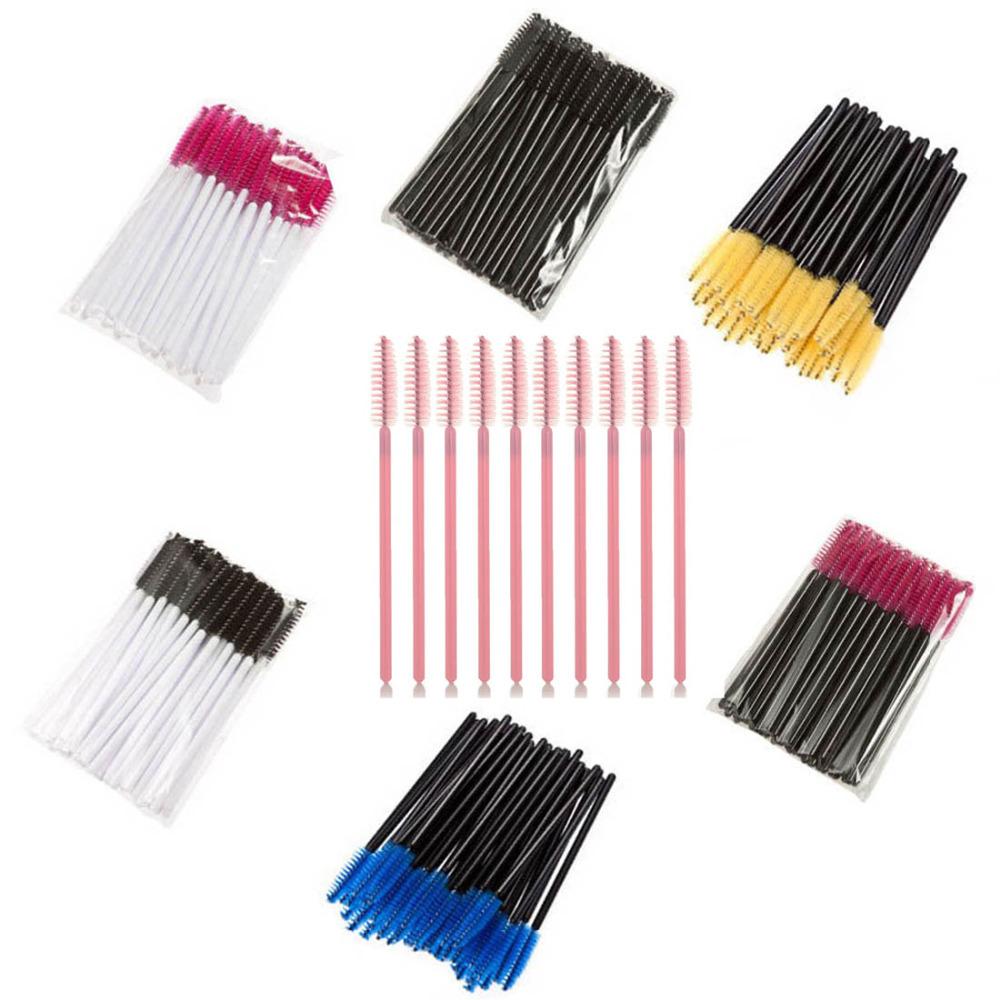 50 pcs/pack, One-Off Disposable Eyelash Brush Mascara Applicator Wand Brushes Eyelash Comb Brushes(China (Mainland))