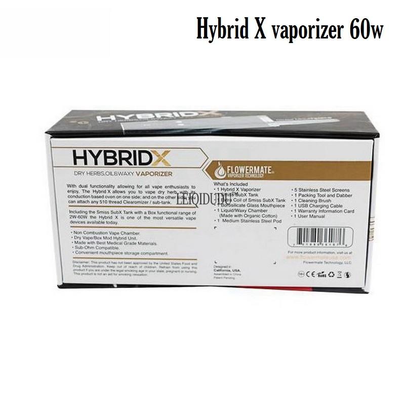 ถูก 100%เดิมFlowermateไฮบริดX 60วัตต์บุหรี่อิเล็กทรอนิกส์ชุดเลขหมายกับsubโอห์มถังสามารถใช้กับสมุนไพร,ขี้ผึ้ง,และของเหลว