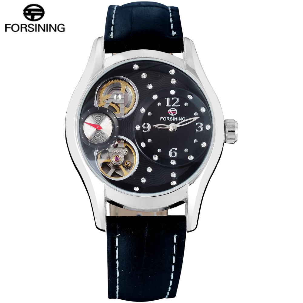 2016 FORSINING mens watch Simple brand luxury business Wristwatches automatic mechanical hot black wristwatch relogio masculino<br><br>Aliexpress