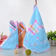 1pcs 34x34cm Baby Face Towel Newborn Cotton Handkerchief Kids Cartoon Elephant Soft Feeding Burp Cloth Saliva Bath Towel BY656