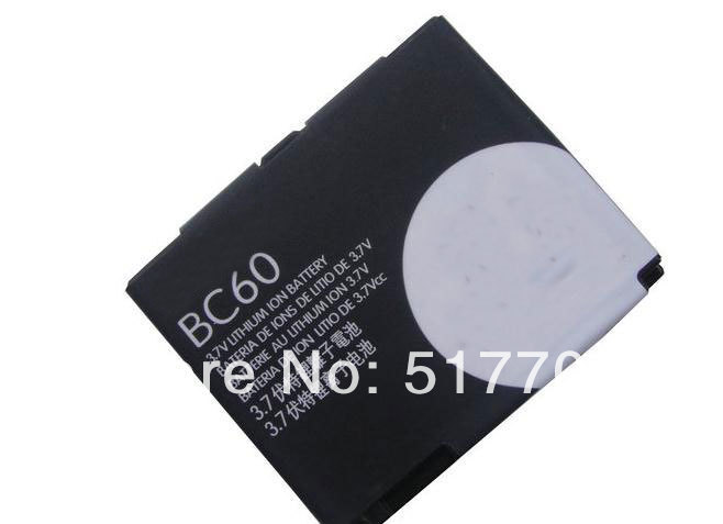 Free shipping high quality mobile phone battery BC60 for Motorola L7 A1600 L72 E8 L71 EM30 C261 C257 with good quality(China (Mainland))