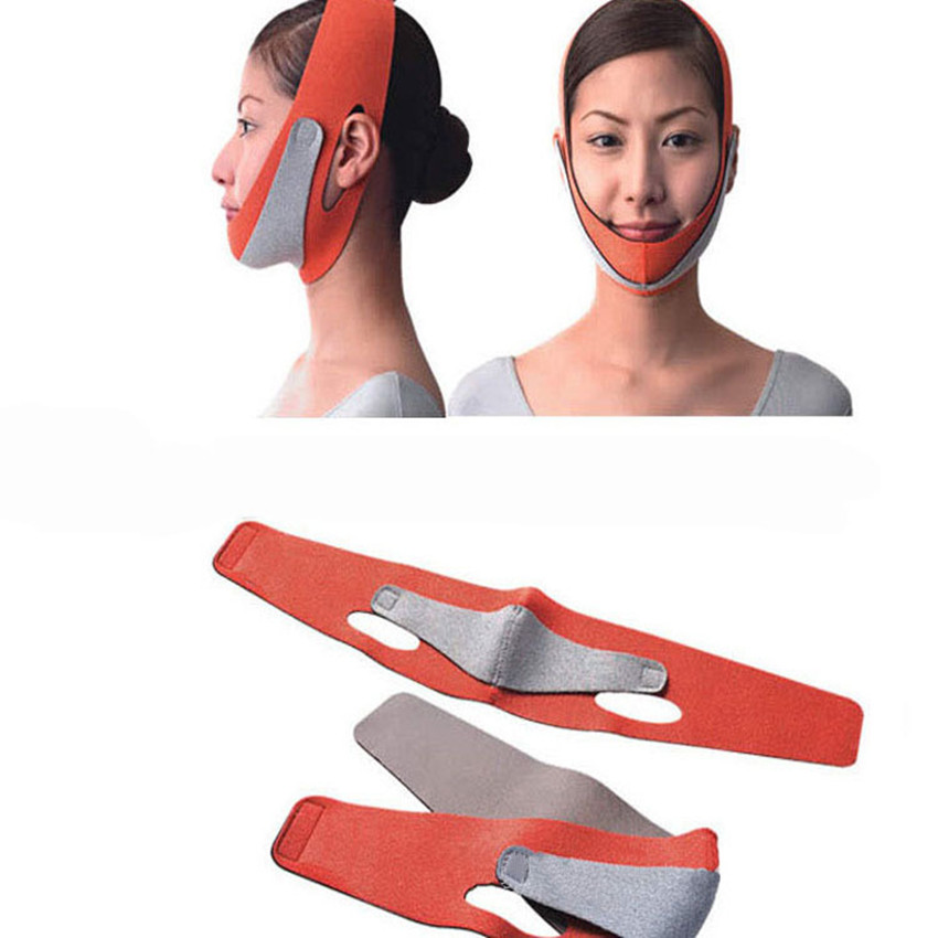 1pcs slimming face lift up tape belt sleeping face-lift Facial Slimming mask cheek massager belts wrap massage