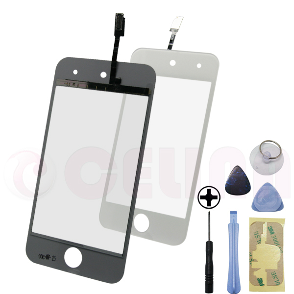 Black Front touch Screen Panel Repair Replacing For iPod Touch 4 Gen 4G 8GB 32GB 64GB , w/Tool, Free Shipping+Tracking