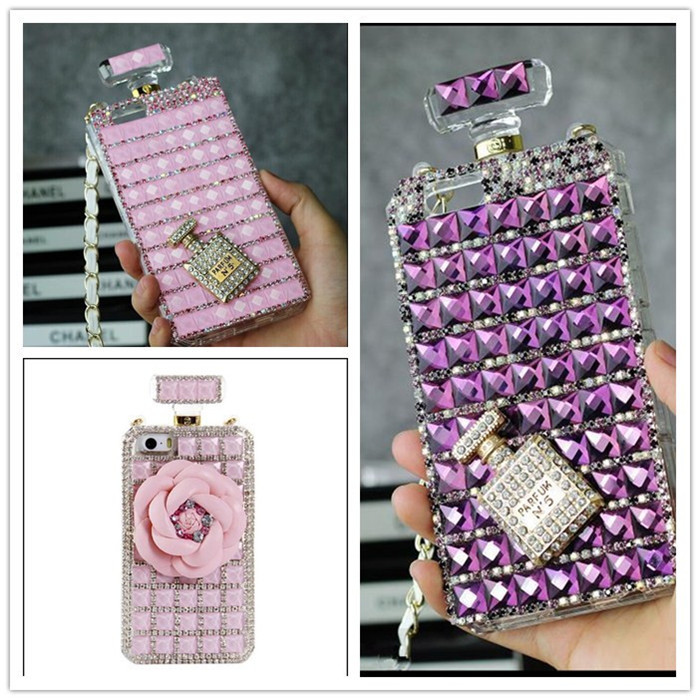2014 new design perfume bottle Bling Diamond Hard Case Cover For Apple iPhone 6 plus Free shipping(China (Mainland))