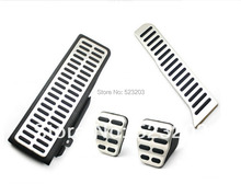 For  VW Golf 6 GTI  MK6 Jetta MK5 Scirocco Octavia Stainless Steel Manual Transmission MT Pedal Pads  Foot Rest(China (Mainland))