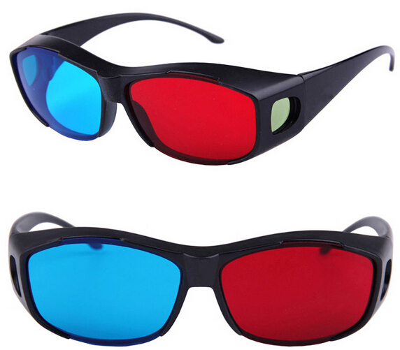 Bertha fashion hot selling high definition Computer&TV film Dedicated red and blue 3D sunglass GP001(China (Mainland))