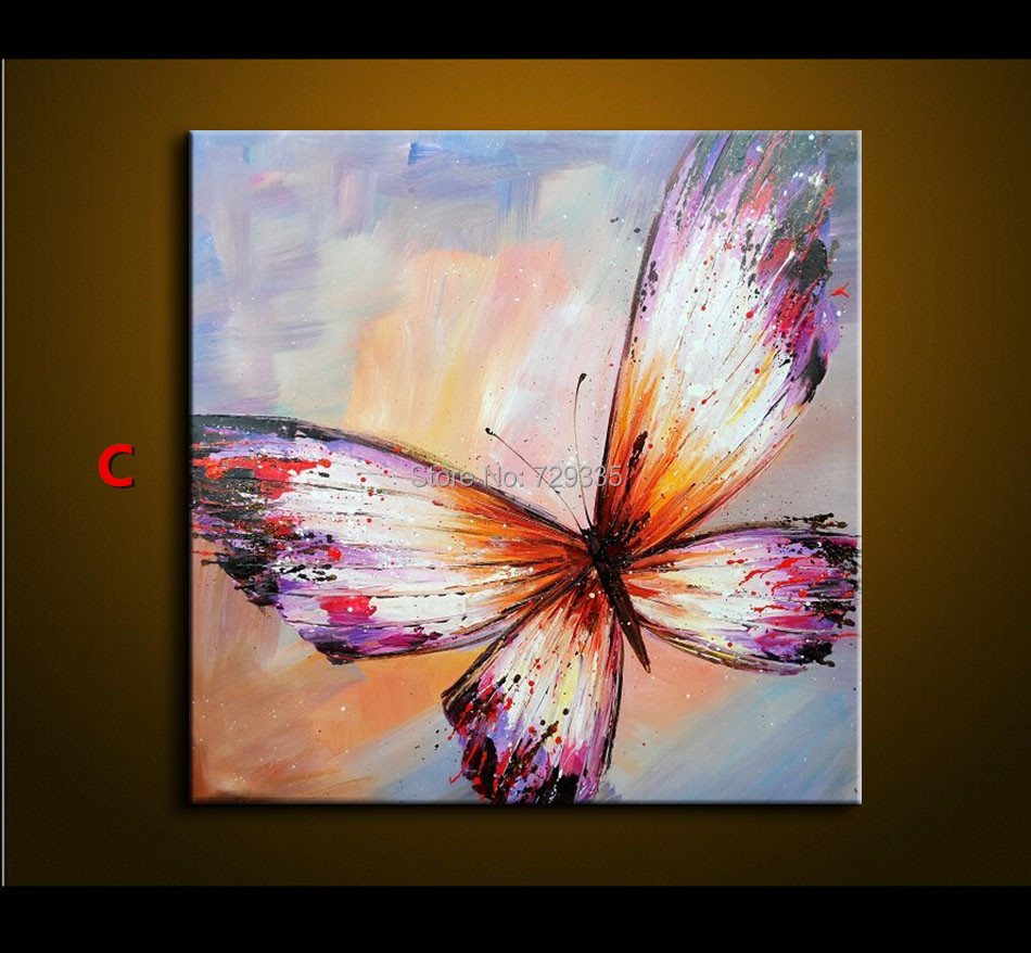 Abstract Butterfly Paintings The Image