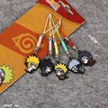 5pcs set Naruto Hatake Kakashi Uzumaki Naruto Cellphone Rope Keychain Pendant Japan Anime Collections Kids Gifts