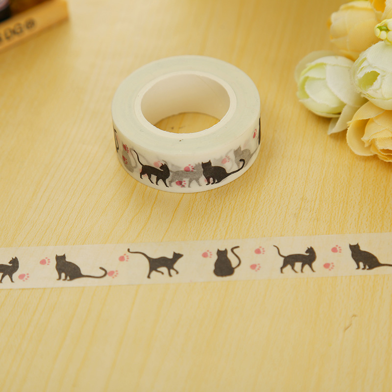 Buy hallowmas cat washi tape diy decoration scrapb - Decoration masking tape ...