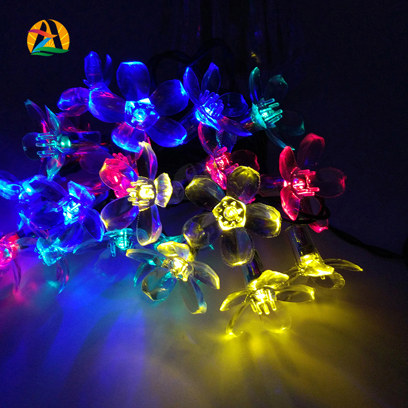 2016 Home Cherry Decoration LED String Light for All Holidays Garland Decor. Flowers AA Battery 4M 40LED Luzes Cordas Lights(China (Mainland))
