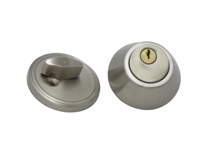 Door Hardware Iron Tubular Lever Door Locks / Deadbolt Invisible Locks D101 Nickel Brush