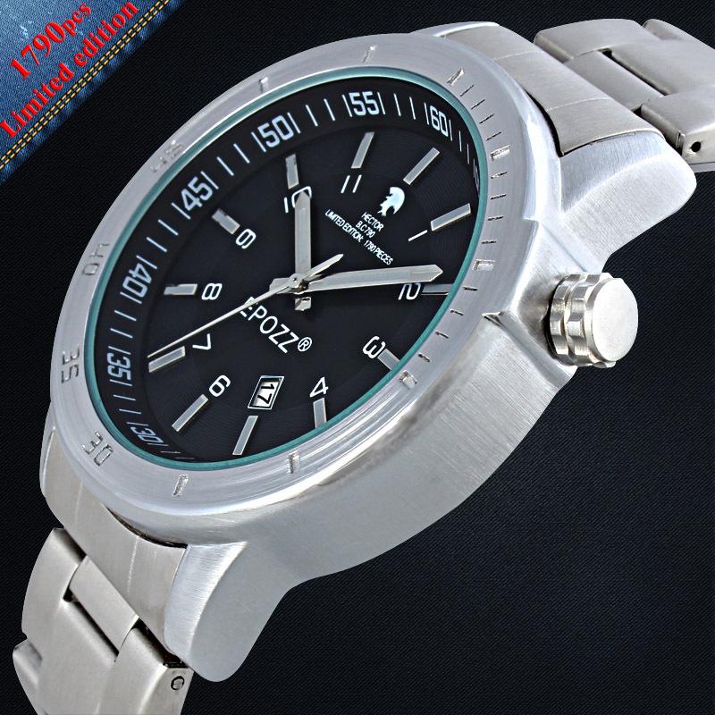 2015 news Special design EPOZZ European head guards limited edition denim Silver Mens Watch Strap diy watch(China (Mainland))