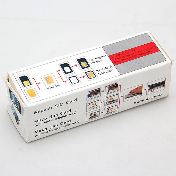 Free Shipping Standard Micro Sim Card To Nano Sim Card Cut Cutter For iPhone 5 5G 5th OH#9055