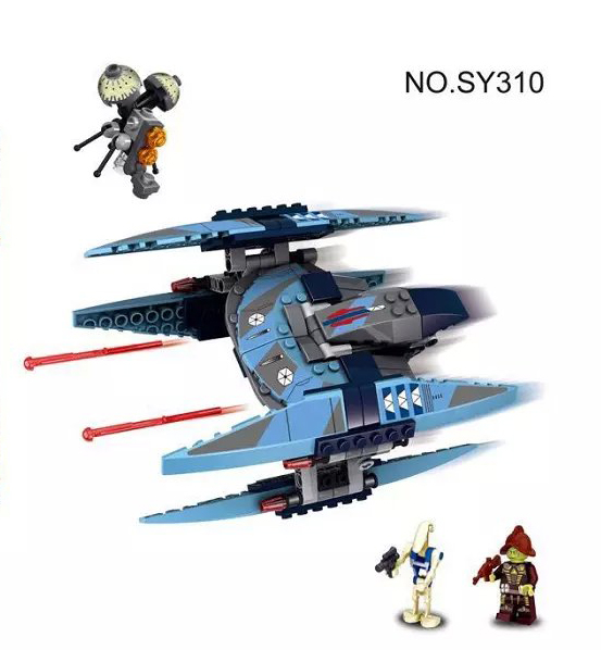 2016 New 221pcs Bela SY310 Star Wars Vulture Droid Model Building Blocks Minifigures Buzz Droid Battle Compatible for gifi(China (Mainland))
