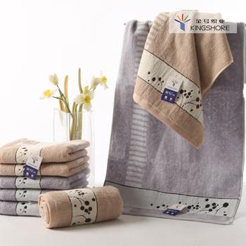 100% cotton towel jacquard line decoration two-color dot 100% cotton washcloth lovers design