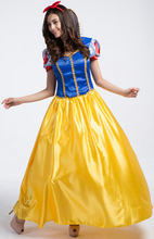 Plus Size Snow White Costume For Girls Fairy Tale Cinderella Princess Long Dress Halloween Cosplay Party Dancing Clothing