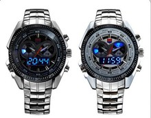 Hot Selling Brand TVG Men Full Steel Watches LED Digital Quartz Chronograph Watch 30m Waterproof Dive Sports Military Watches(China (Mainland))