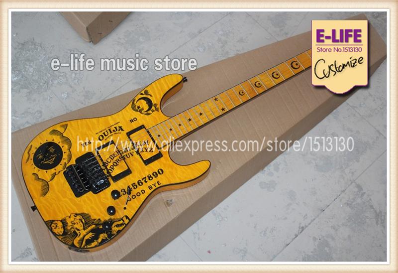 Good Cheap Price ESP KH-2 OUIJA Yellow Electric Guitar Kirk Hammett Signature China Musical Instrument(China (Mainland))