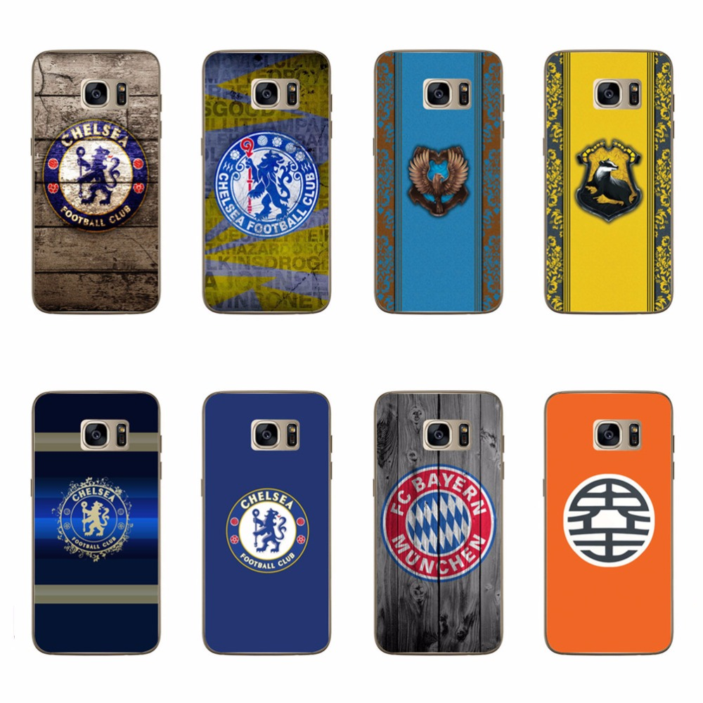 CHELSEA FCCASE BAYERN MUNCHEN Pattern TPU Silicone Soft Case For Galaxy S3 S4 S5 Mini S6 S7 Edge Note 3 4 5 Edge G530 Back Cover(China (Mainland))