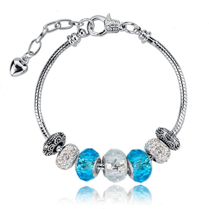 Браслет с брелоками Pa Jewelry 2015 Aliexpress & DIY SBR140716 ткань lot 6 diy 100% aliexpress