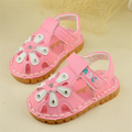 Top quality Latest Hot New infant shoes Girls Flowers and soft bottom princess rhinestone sandals 0