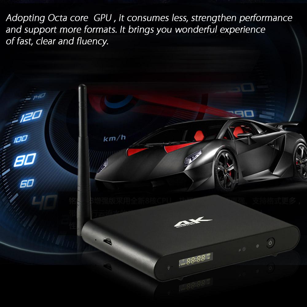 T051 Android 5.1.1 TV Box UHD 4K * 2K 2G / 8G RK3368 Octa-Core 64 Bits Mini PC Kodi/XBMC/Miracast/DLNA Bluetooth 4.0 H.265 WiFi<br><br>Aliexpress