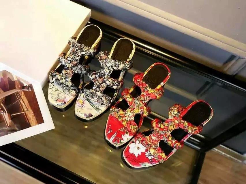 Luxury plait strappy leather slides Chinese painting wedges Elegant platform sandals logo deigned woman shoe(China (Mainland))