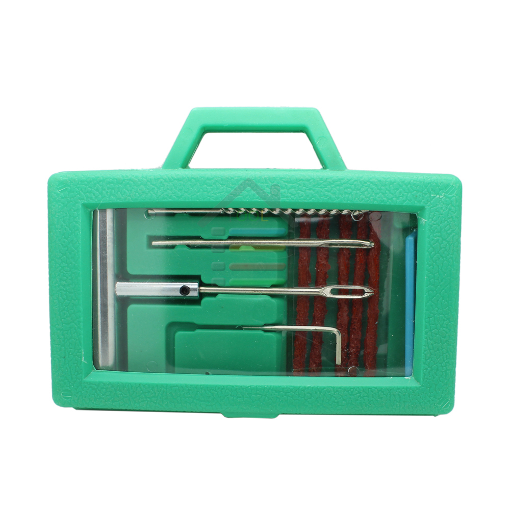 Car Bike Auto Tubeless Tire Tyre Puncture Plug Steel Tire Repair Needle Tool Sets Includes Replaceable Tire Needles 5 Strip(China (Mainland))