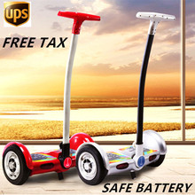 Buy 18km/h Max Speed Self Balancing Scooter 2 Wheel Hoverboard 10 inch,2 Wheel Scooter Mini Skateboard handle bar for $342.00 in AliExpress store